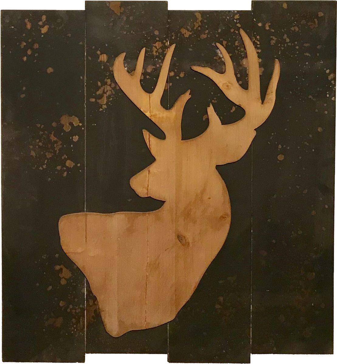 Tim Wolfe Deer Reclaimed Wood Wall Art