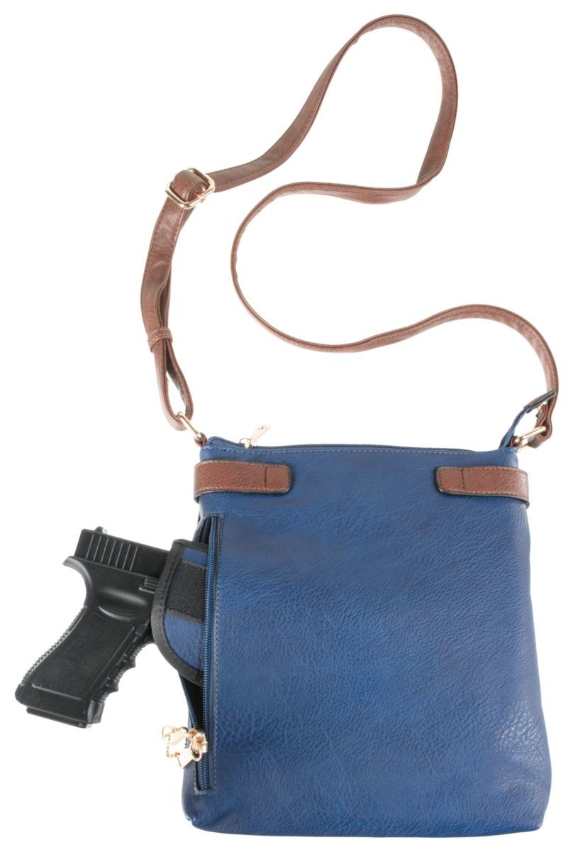 Emperia® Outfitters Hannah Dual-Buckle Concealed-Carry Crossbody Handbag