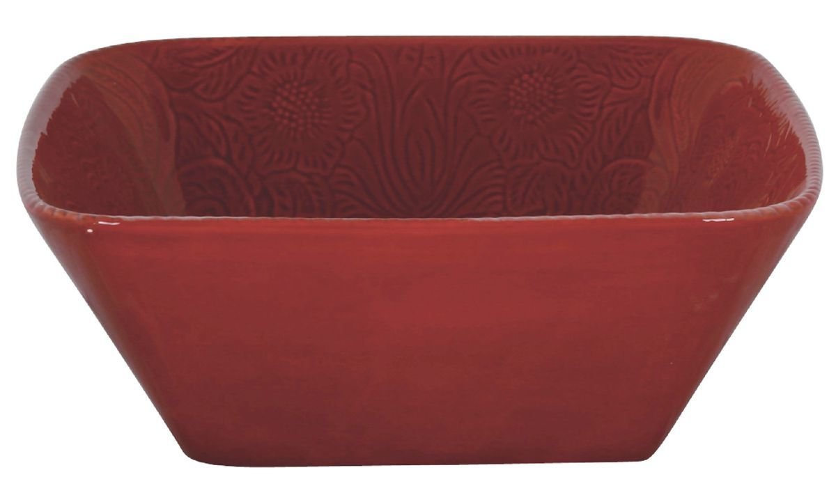HiEnd Accents Savannah Red Serving Bowl