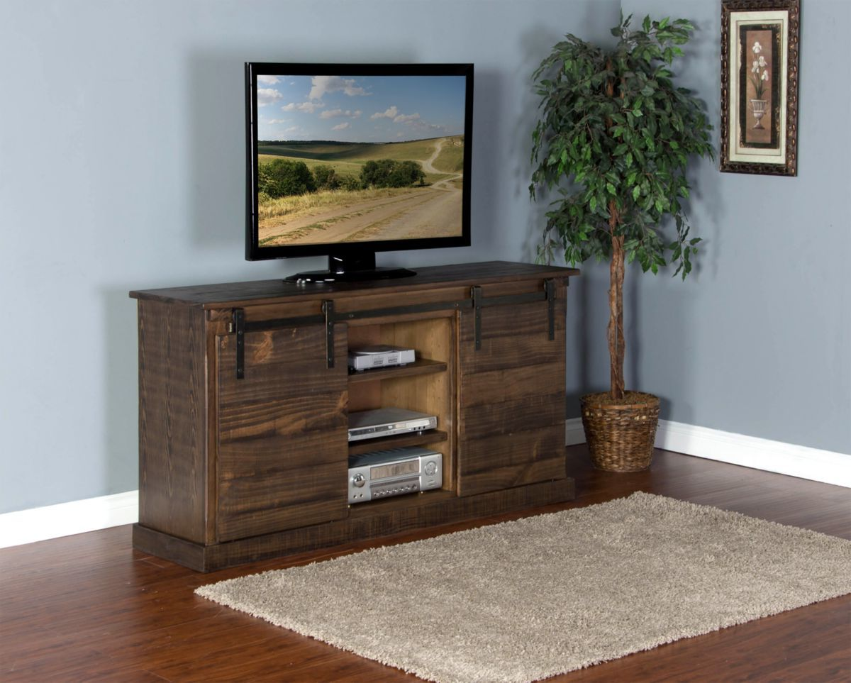 """65"""" TV Console with Barn Doors"""
