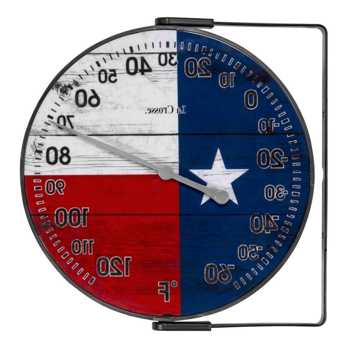 La Crosse Technology® 104-105TX Texas Flag Bracket Analog Thermometer