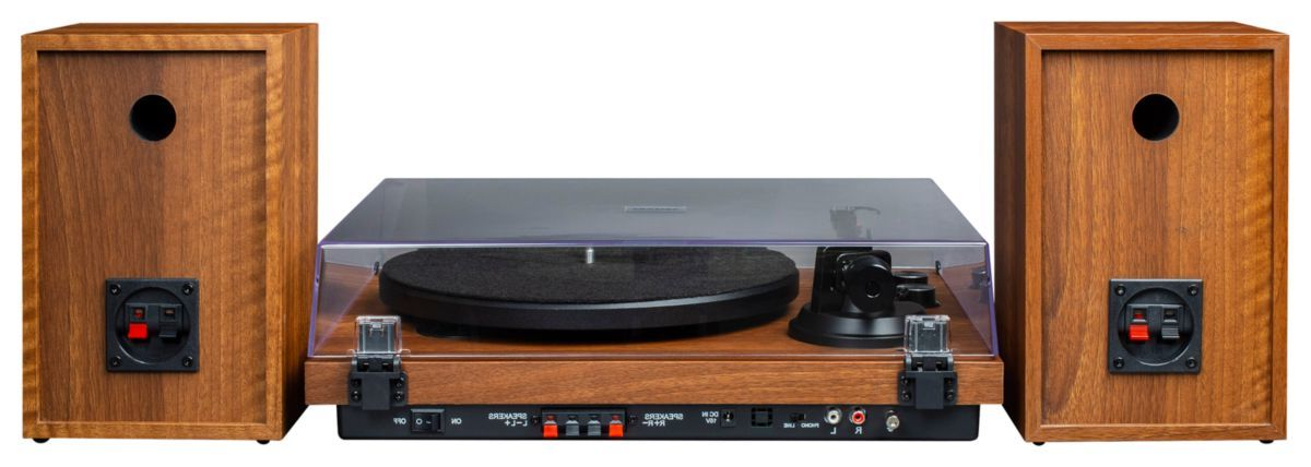 Crosley® C62 Turntable with Speakers Shelf System