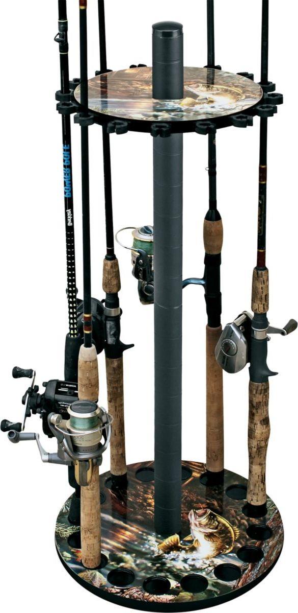 Rush Creek Bass 16-Rod Round Rack