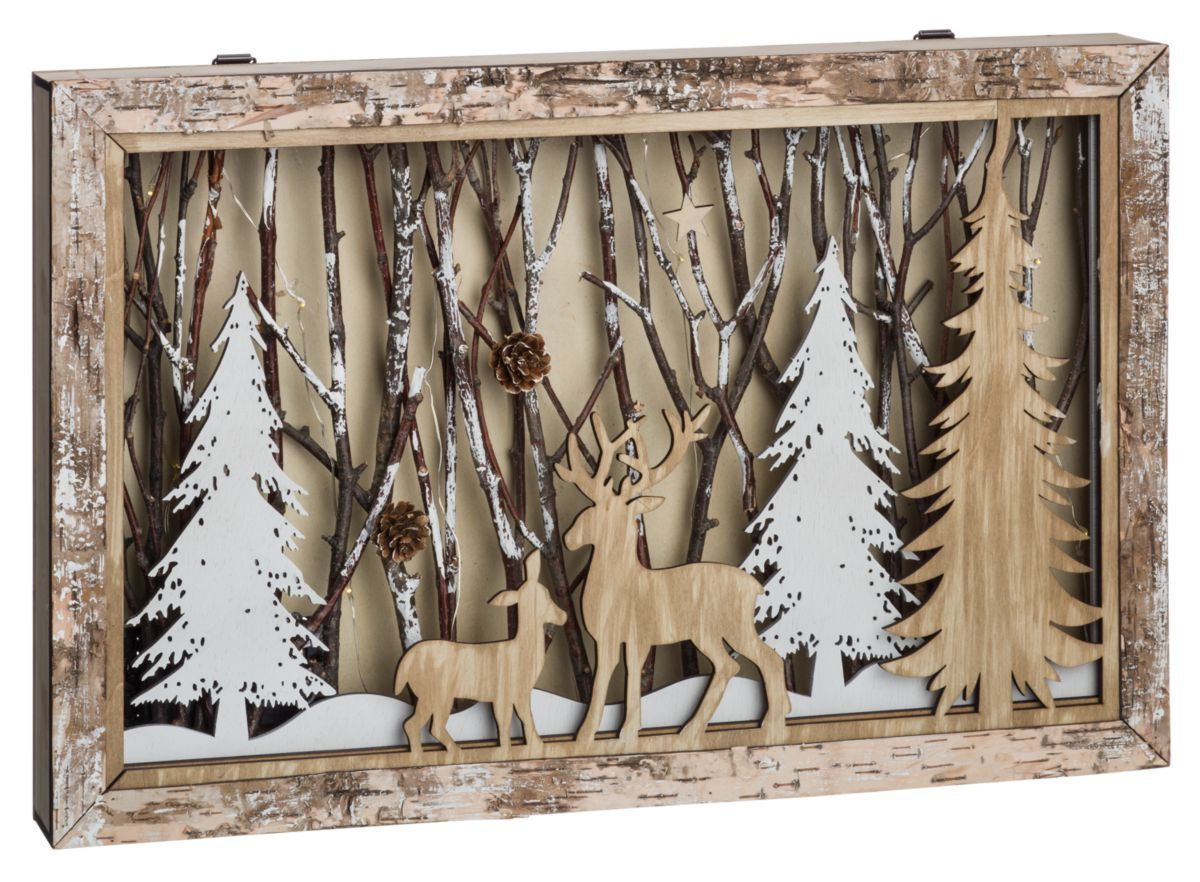 Deer in Woods LED Shadow Box