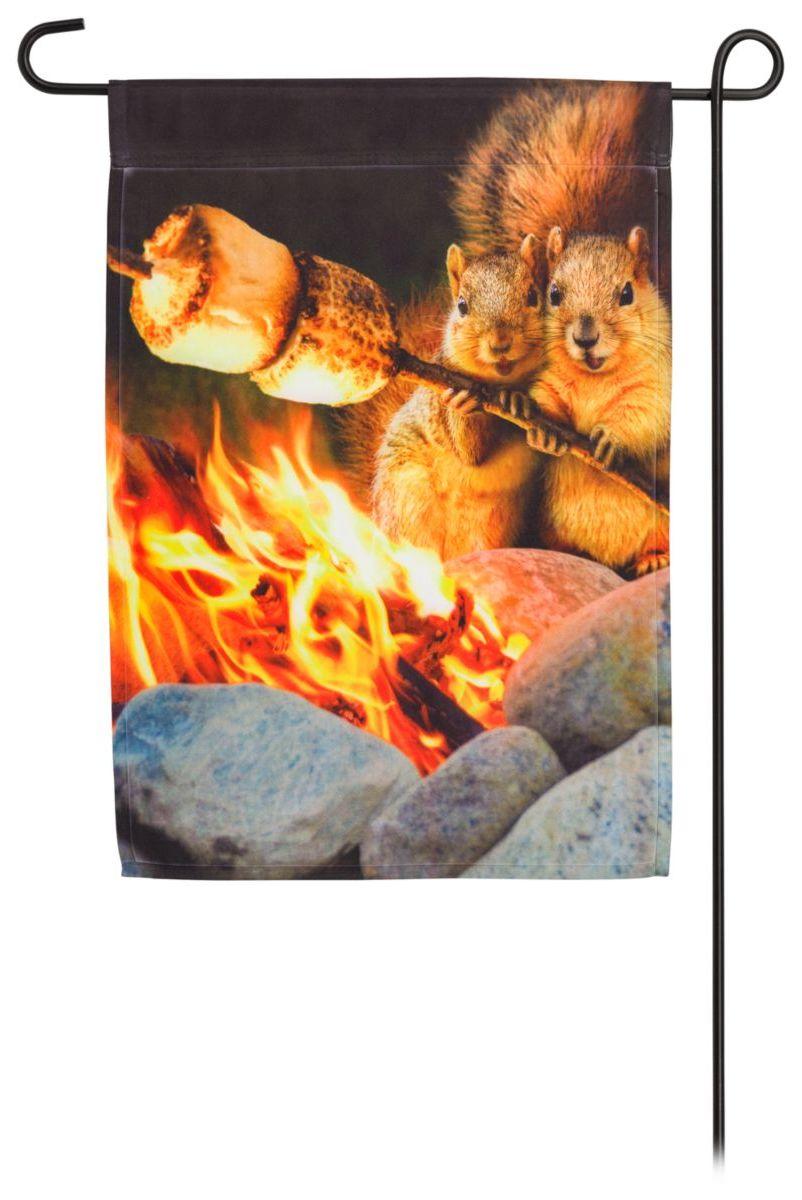 Evergreen® Campfire Couple 2-Sided Polyester Garden Flag
