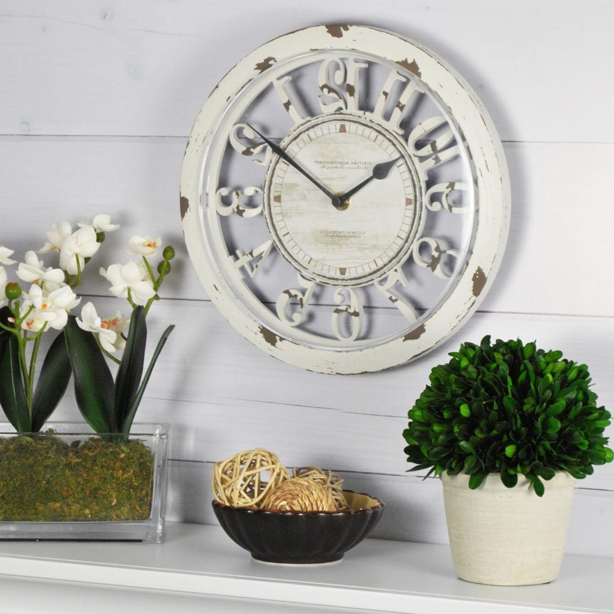 FirsTime & Co.® Antique Contour Wall Clock