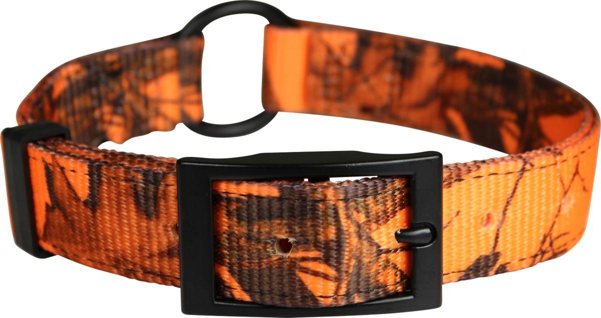 Cabela's Nylon Blaze Orange Camo ID Dog Collar