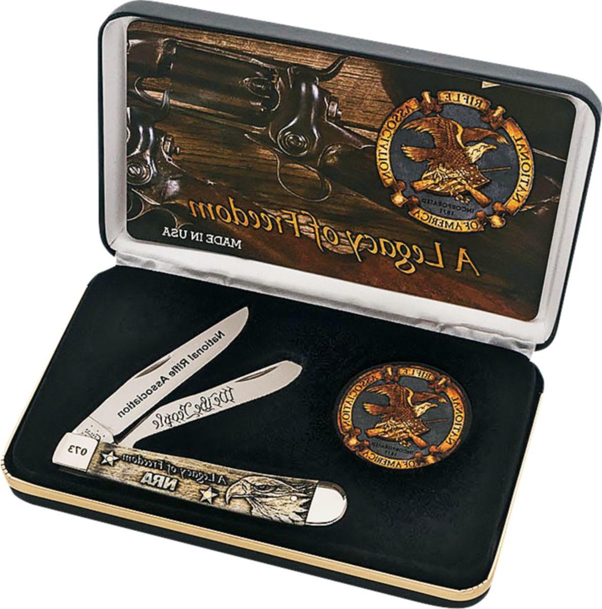 W.R. Case & Sons® NRA Sculpted Bone Trapper Knife