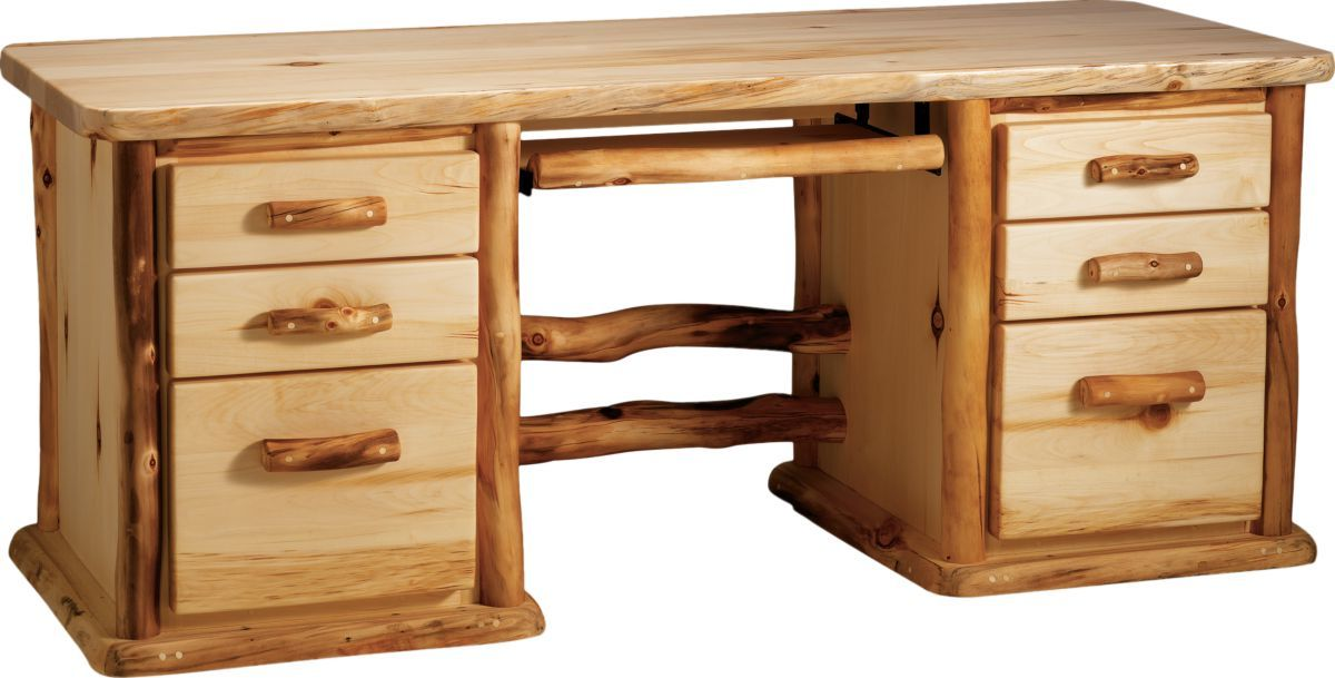 Mountain Woods Furniture® Aspen 7-Drawer Desk