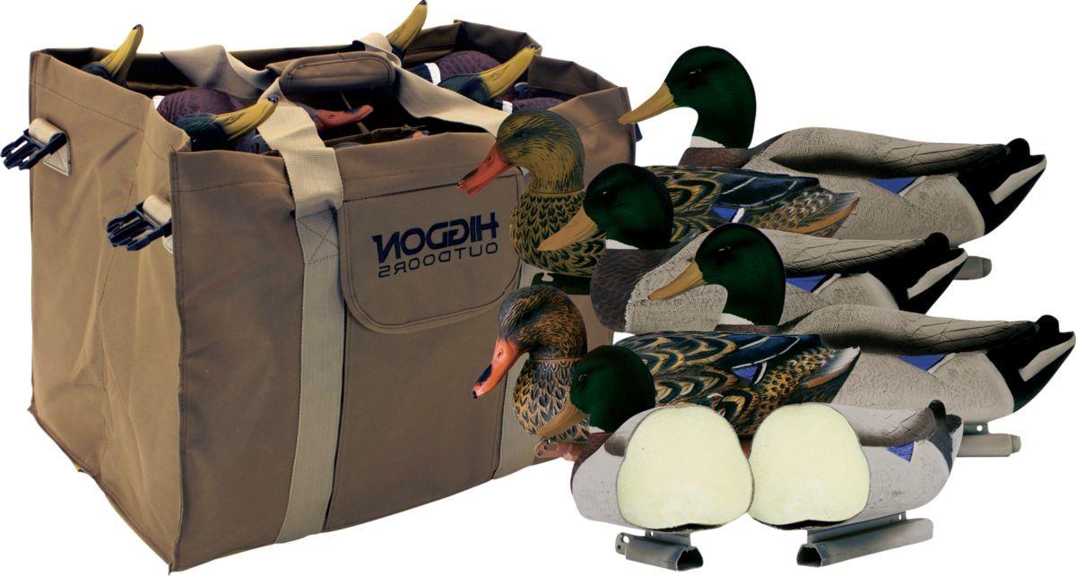 Higdon Outdoors Mag Mallard Foam-Filled Flocked Head Duck Decoys + Bag