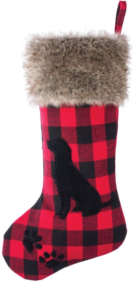 Bass Pro Shops® Red and Black Buffalo Plaid Christmas Stockings