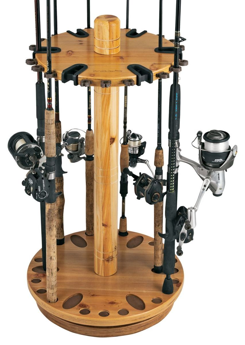 Rush Creek 30-Rod Spinning Rod Rack