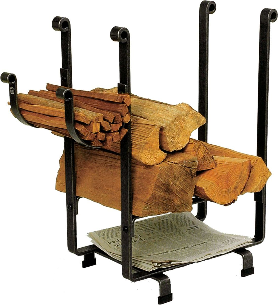 Enclume Hearth Rectangular Log Rack with Newspaper Holder