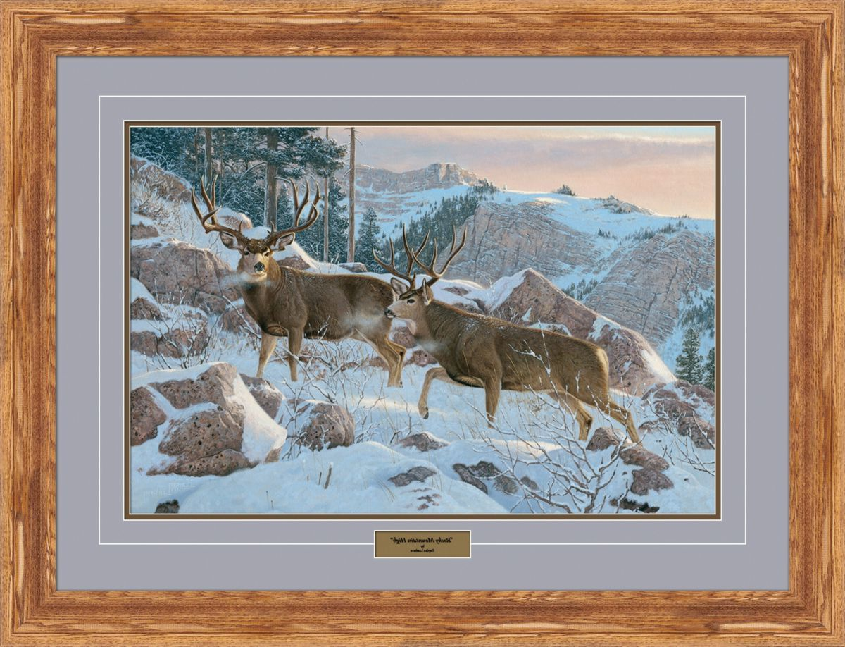 Reflective Art Hayden Lambson Limited Edition Mule Deer Framed Print – Rocky Mountain High