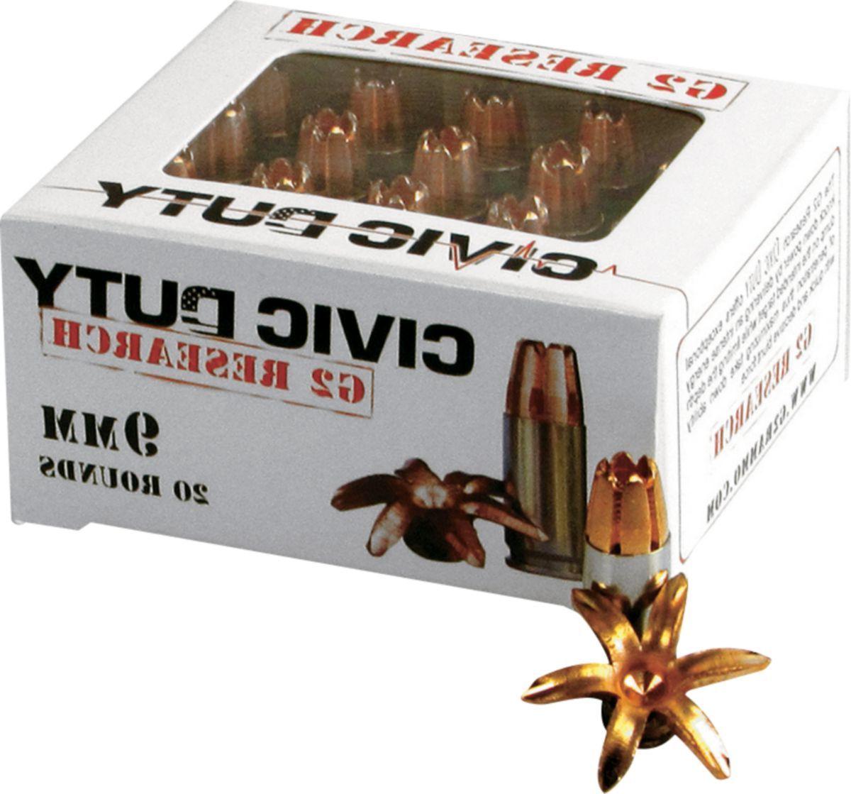 G2 Research Civic Duty Handgun Ammunition
