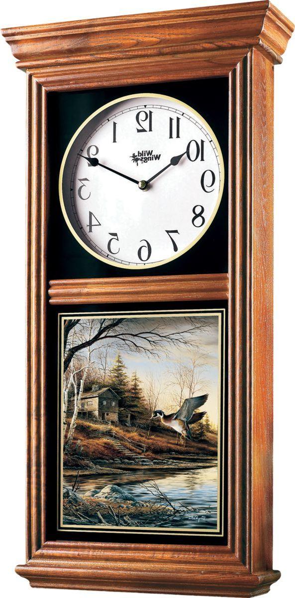 Wild Wings® Regulator Clock – Backwoods Cabin