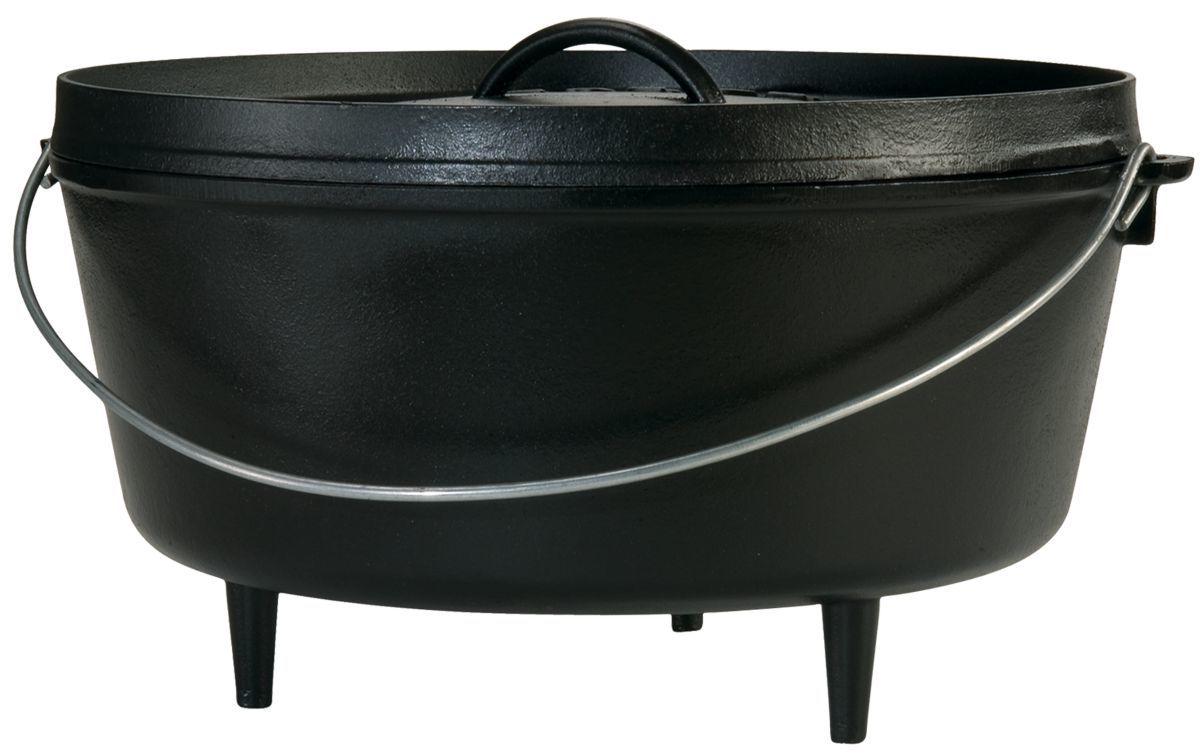 Lodge® 10-Qt. Cast-Iron Camp Dutch Oven
