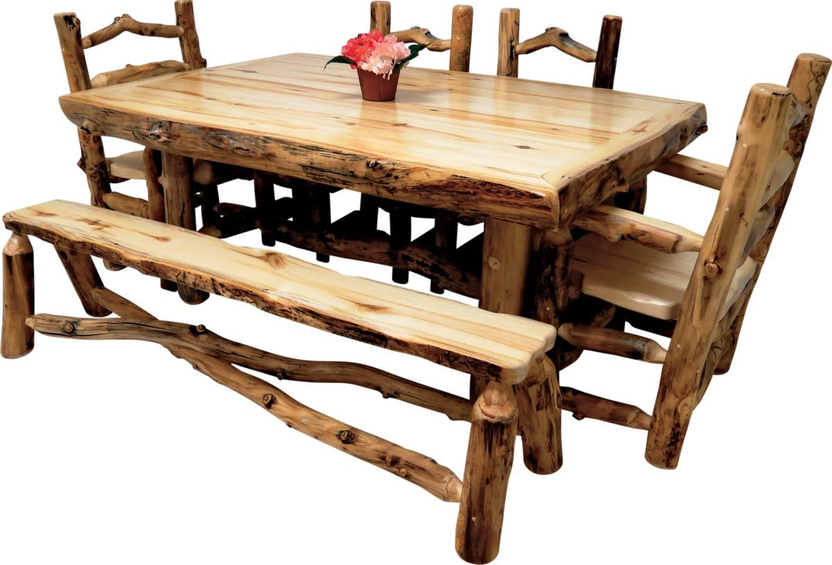 Mountain Woods Furniture® Aspen Grizzly Dining Table