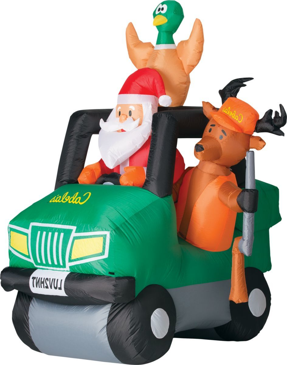 Cabela's Santa and Friends Off-Roader Inflatable