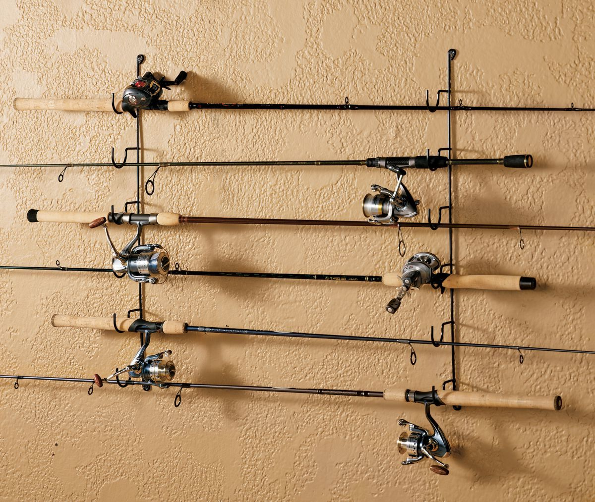 Rack'Em Six-Rod Horizontal Wall Rack