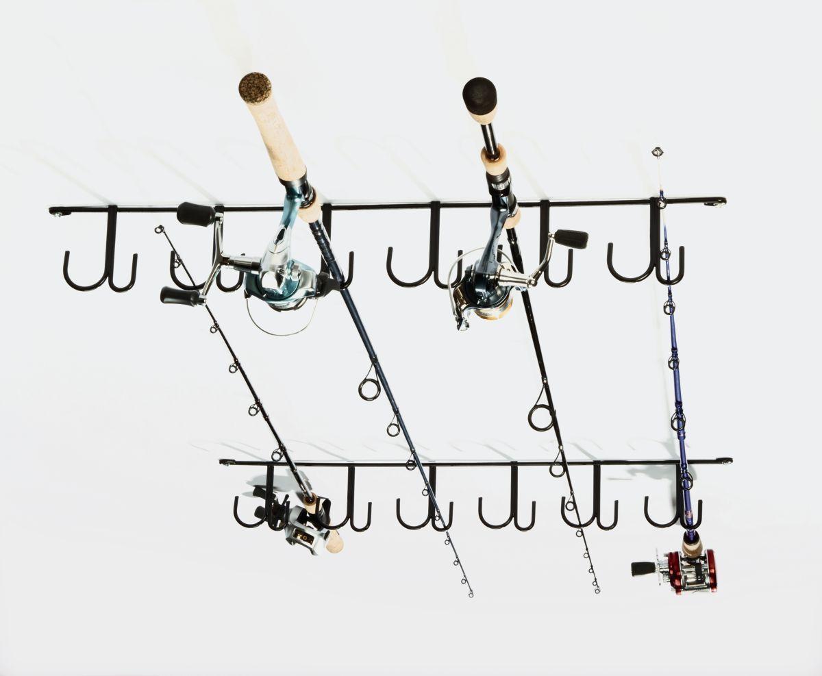 Rack'Em 12-Rod Ceiling Rod Rack