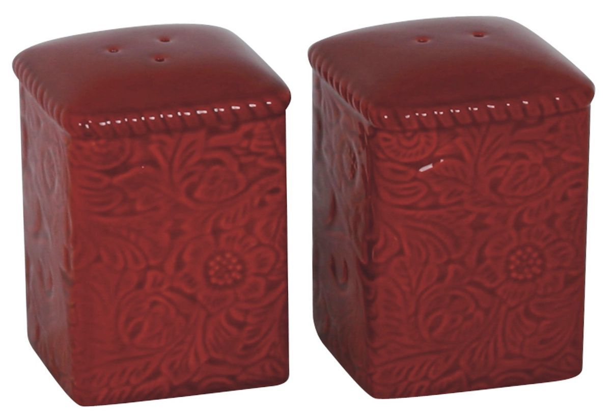 HiEnd Accents Savannah Red Salt and Pepper Shakers