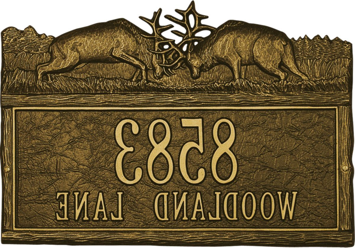 Whitehall Personalized Address Signs