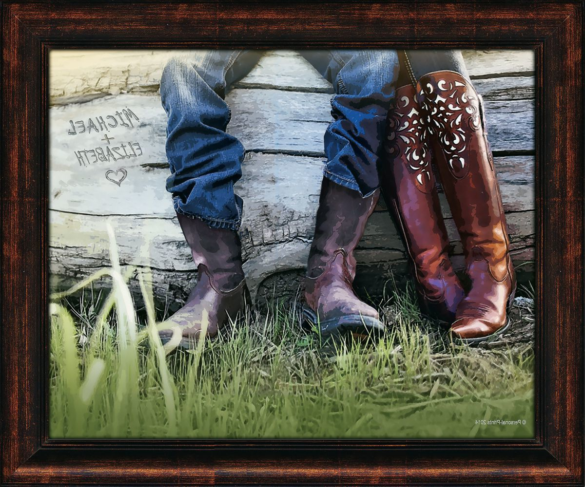 Kennedys Personal Prints Personalized Boots Love Large Print