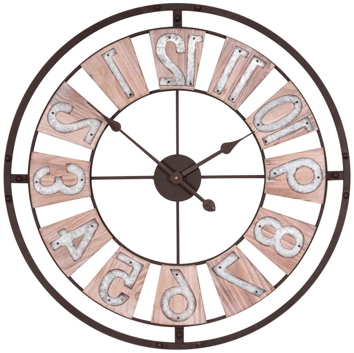 "La Crosse Technology® 27.5"" Industrial Decorative Round Quartz Wall Clock"