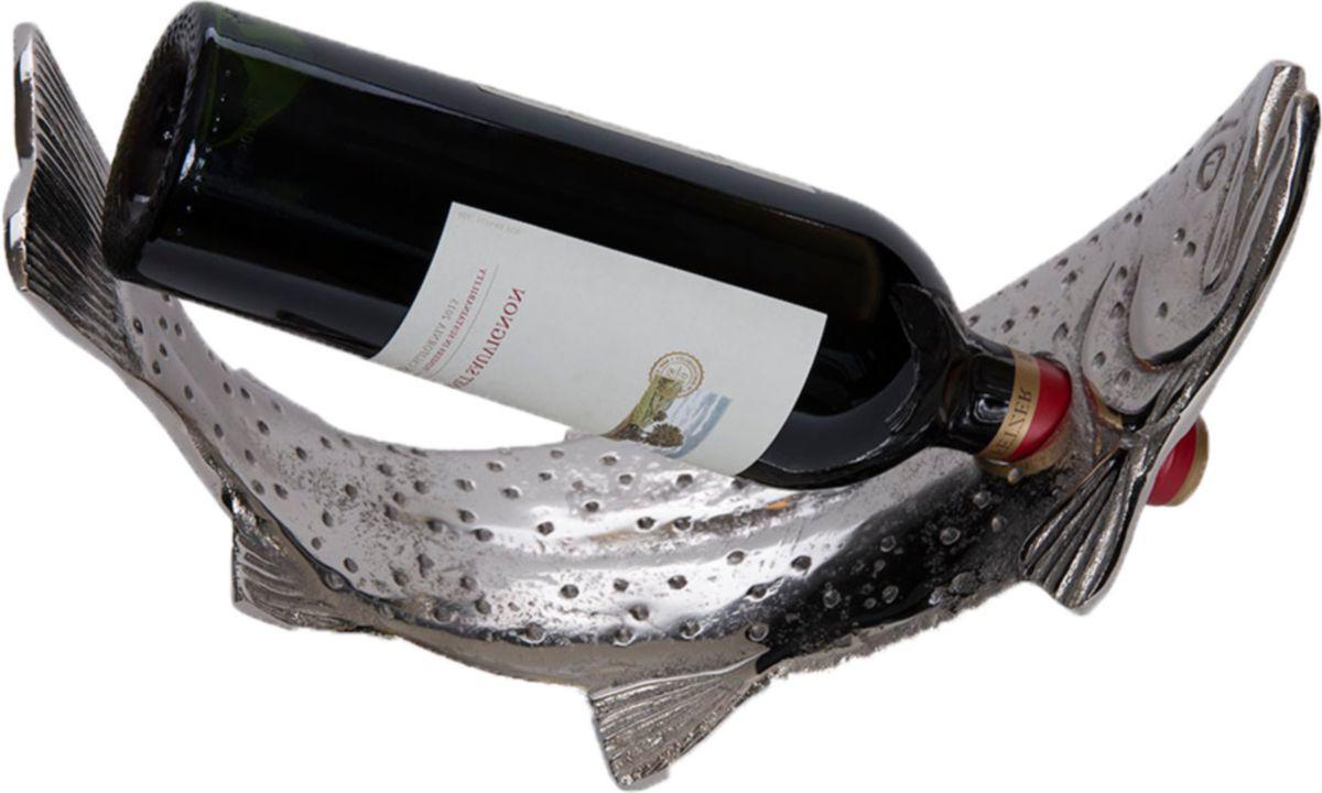 Big Sky Carvers Metal Trout Wine-Bottle Holder