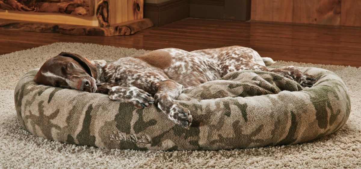 Cabela's Camo Berber Bagel Dog Bed