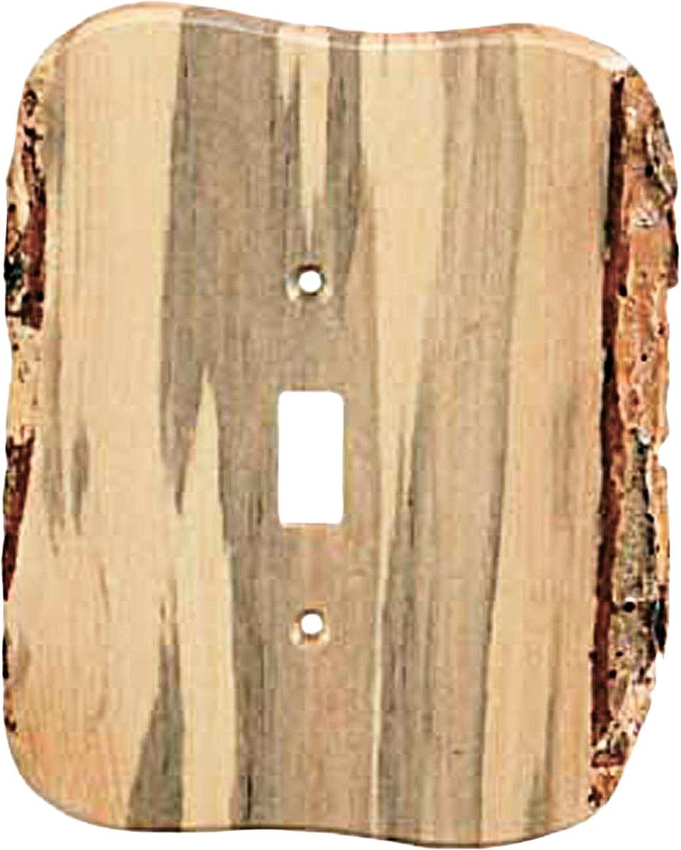 Square Edge Rustic Blued-Pine Electrical Covers