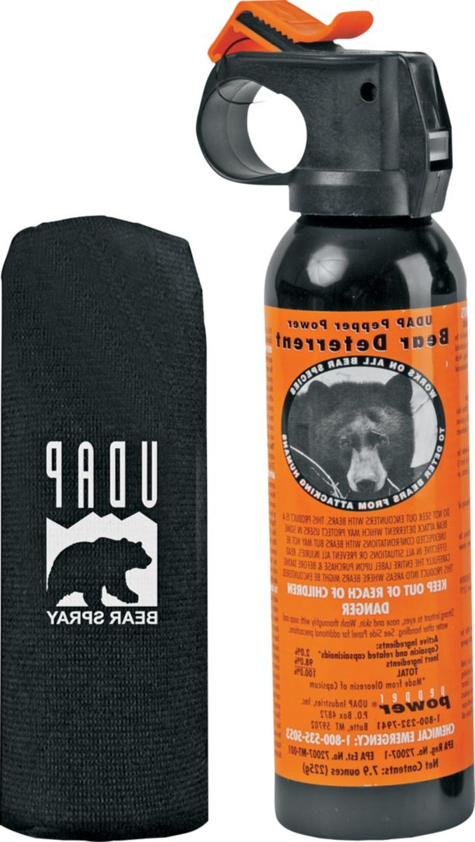 UDAP Pepper Power Safety Orange Bear Spray with Hip Holster