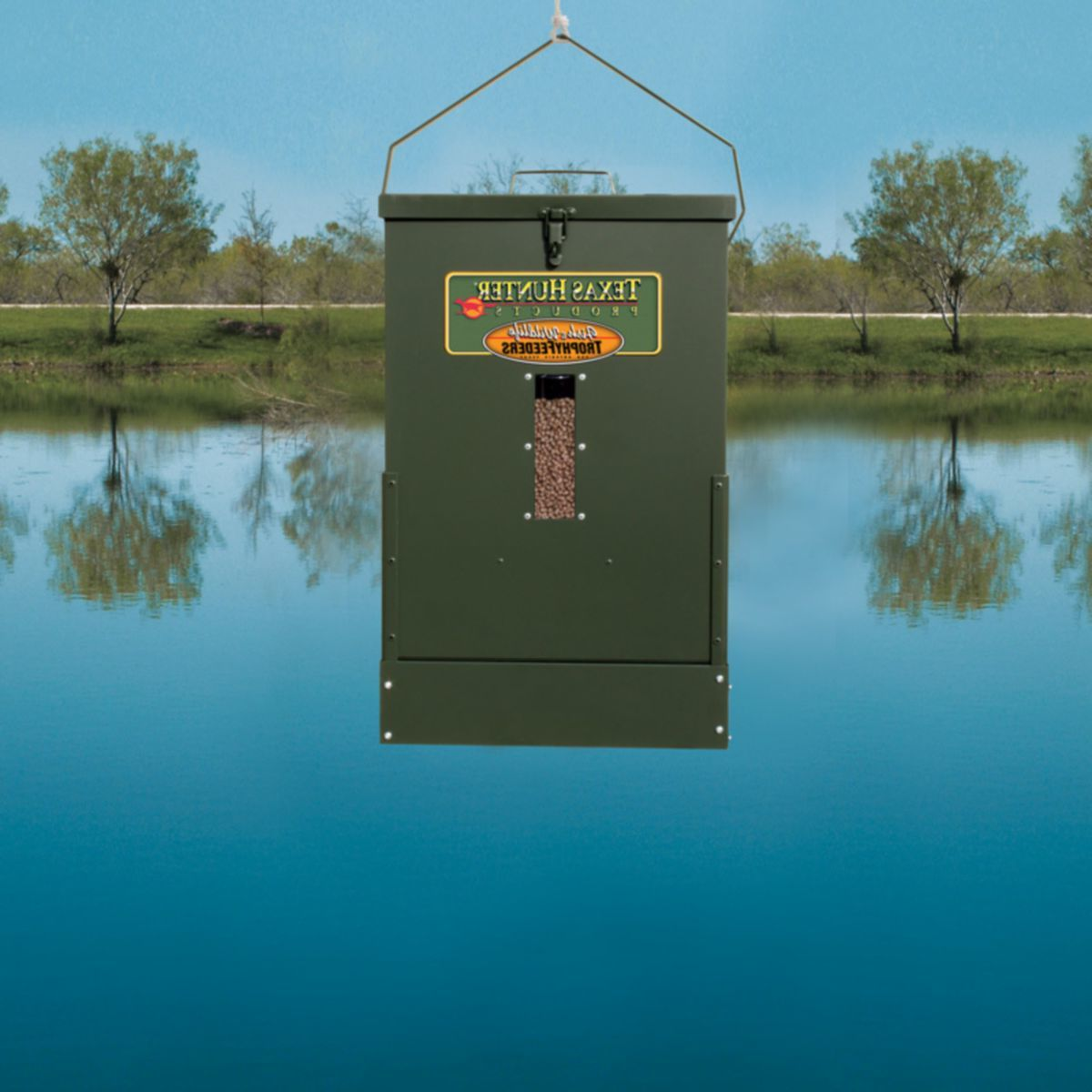 Texas Hunter 50-lb. Hanging Fish Feeder with Solar Charger