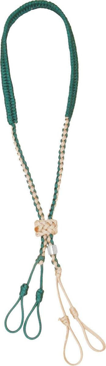 Heavy Hauler Sliding-Knot Lanyard – Tan/Green