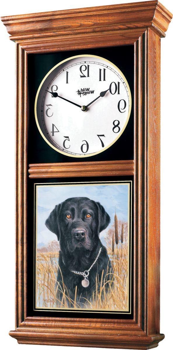 Wild Wings® Regulator Clock – Black Lab