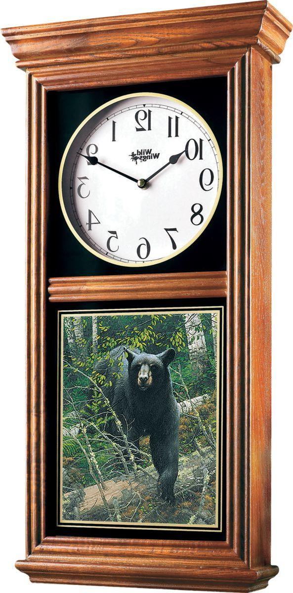 Wild Wings® Regulator Clock – Bear