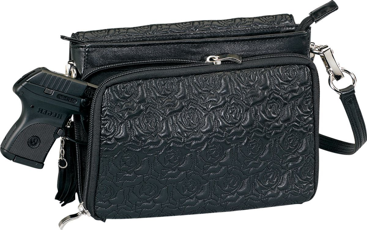 Gun Tote'n Mamas™ Embroidered Lambskin Concealed-Carry Clutch