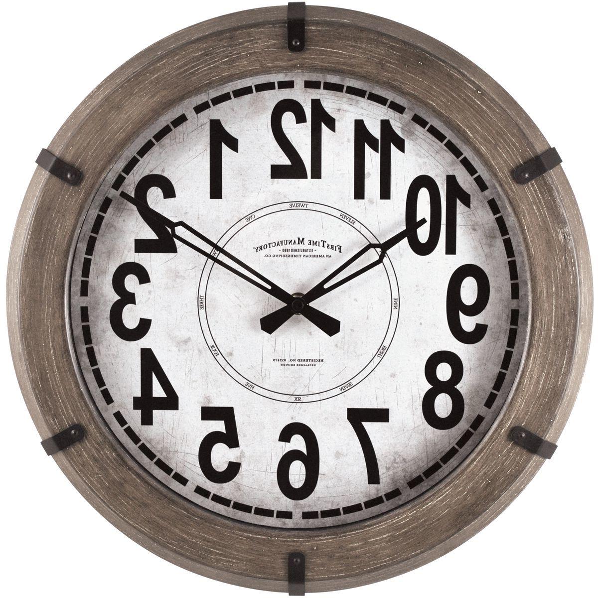 FirsTime & Co.® Modern Rustic Wall Clock