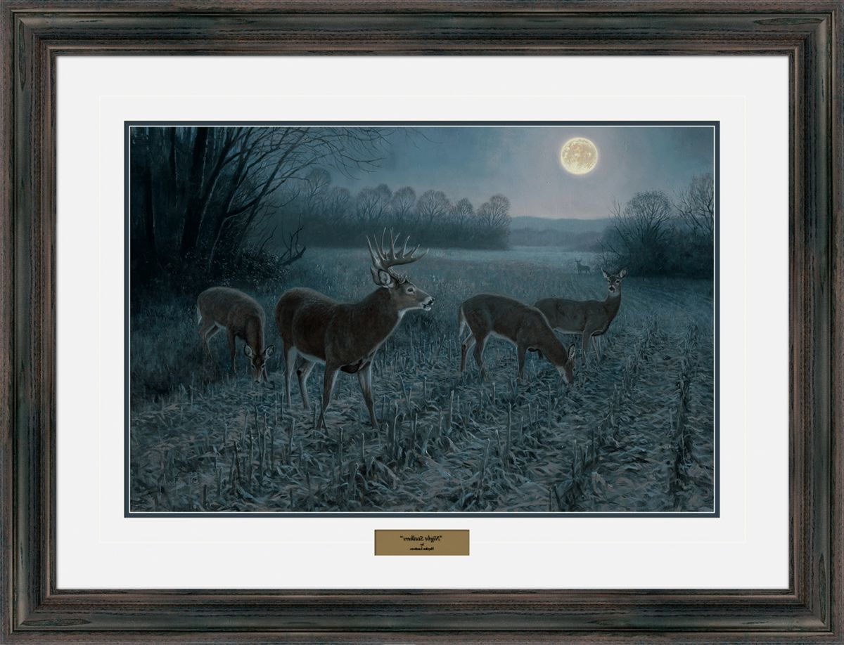 Reflective Art Hayden Lambson Whitetail Limited Edition Framed Prints – Night Stalker