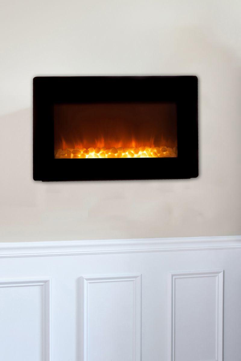 Fire Sense® Black Wall-Mounted Electric Fireplace