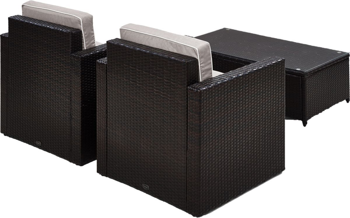 Crosley Palm Harbor Three-Piece Outdoor Wicker Seating Set