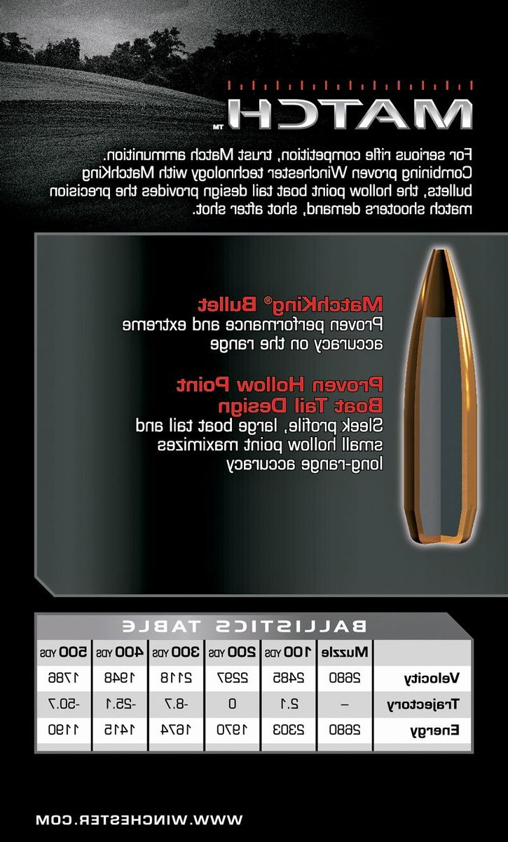 Winchester® Match Rifle Ammunition – Per 20