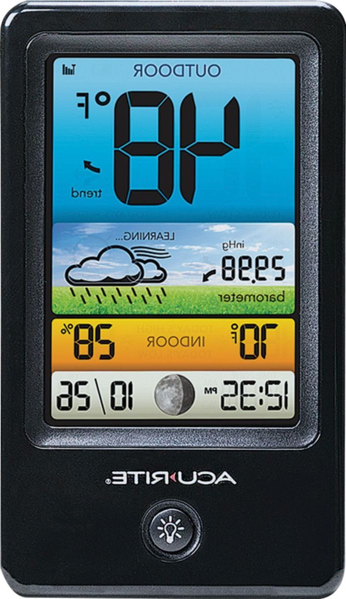 Acu-Rite 00509 Color Weather Forecaster with Temperature/Humidty Forecast