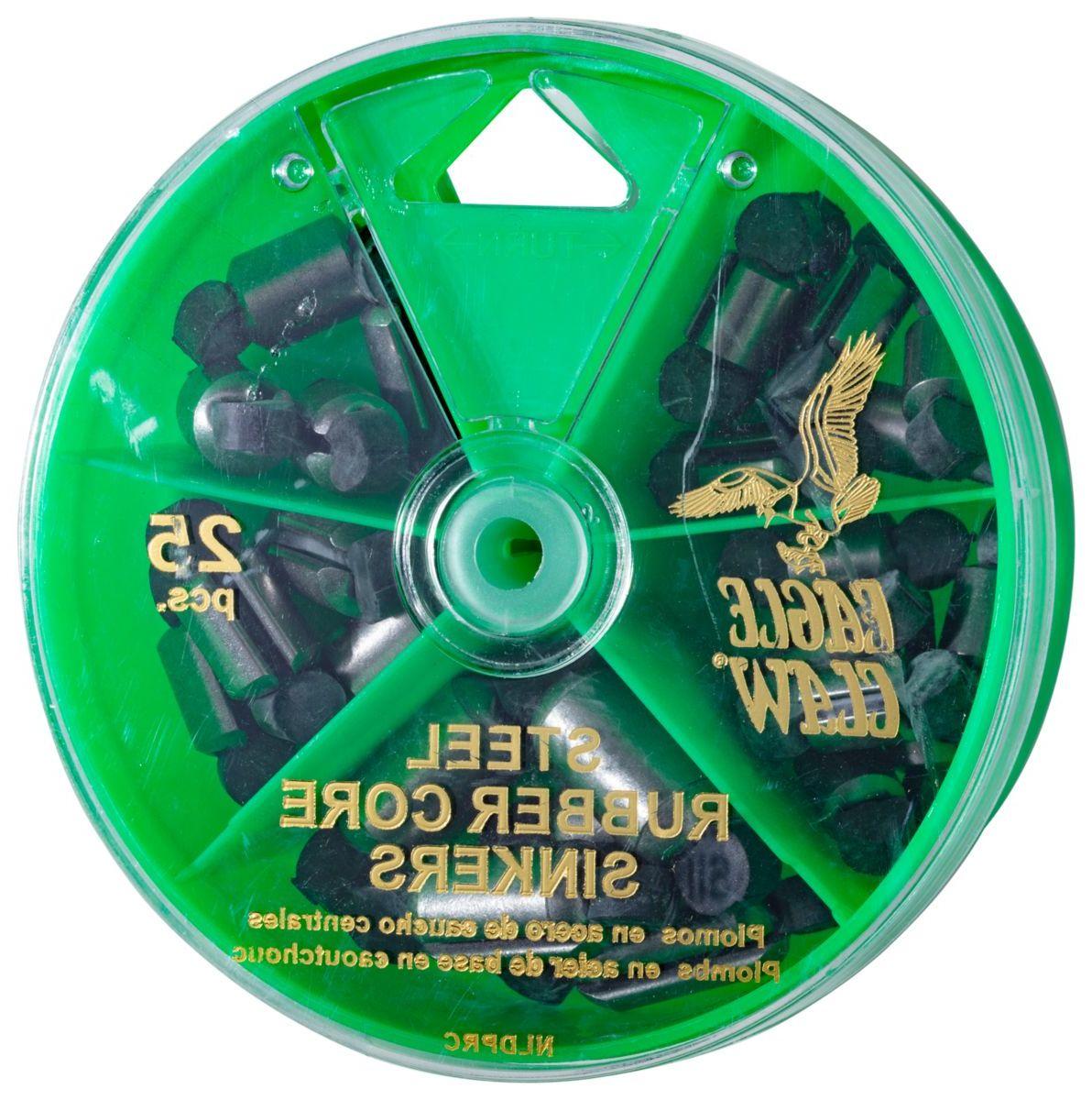 Eagle Claw® 25-Piece Steel Rubber-Core Sinker Assortment