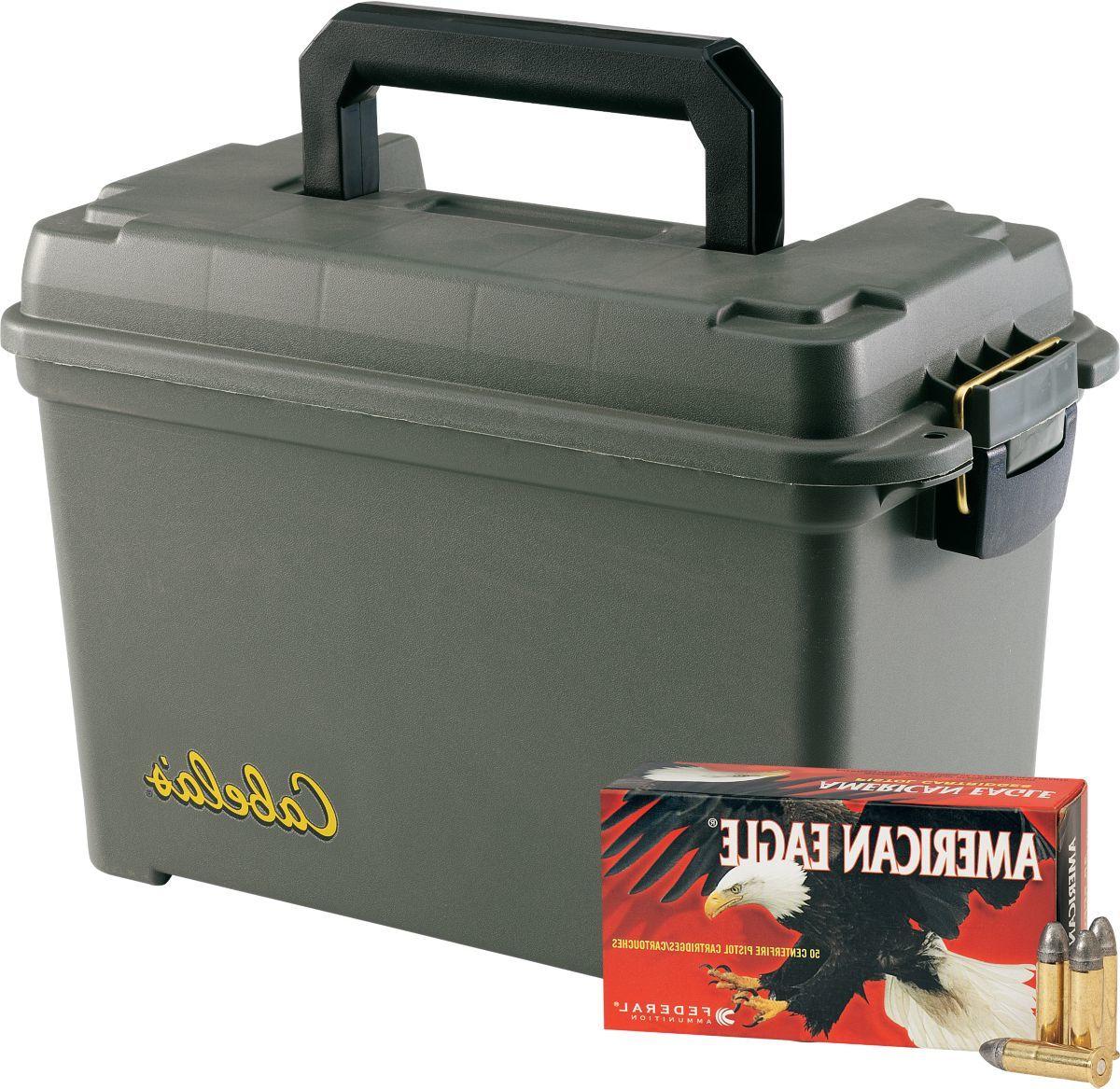 Federal® American Eagle® Bulk Handgun Ammunition with Dry-Storage Box