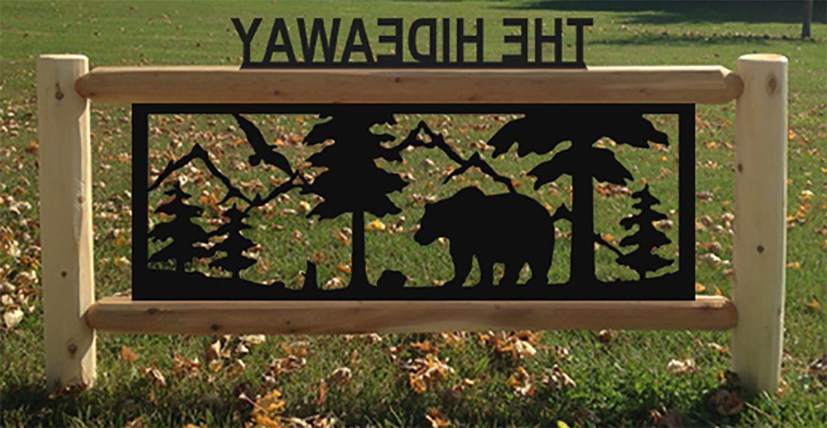 Clingermans Personalized Log Wildlife Sign – 4 ft.