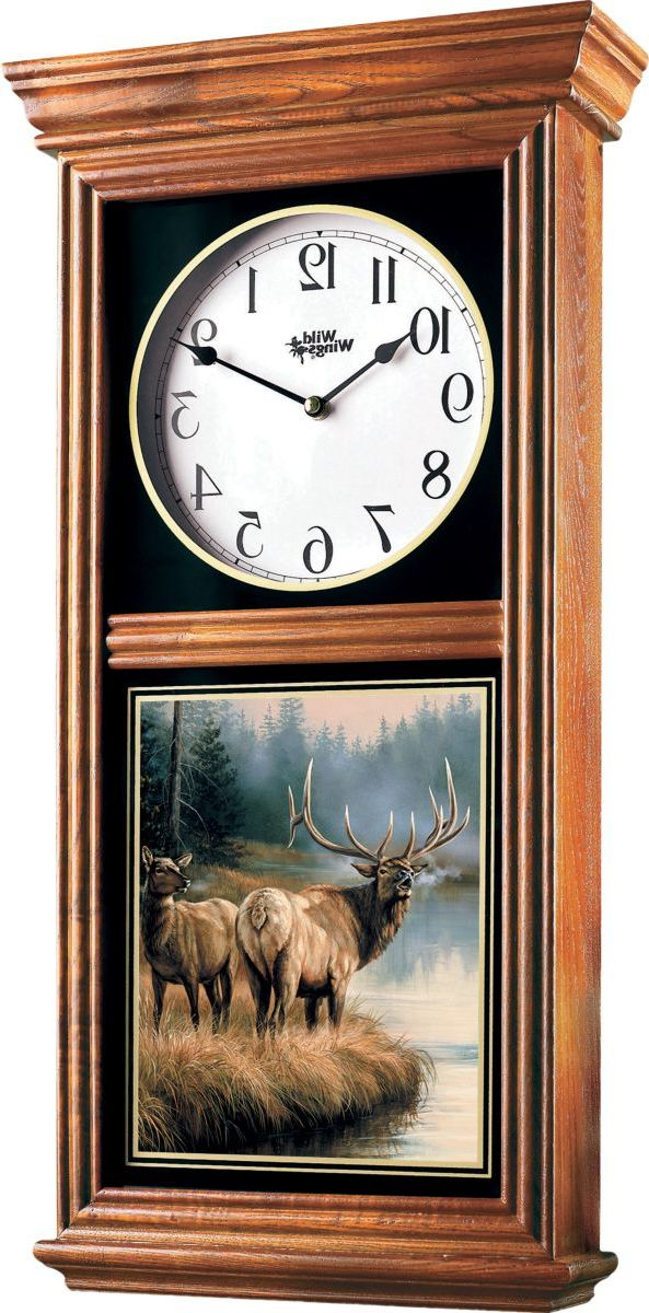 Wild Wings® Regulator Clock – Elk