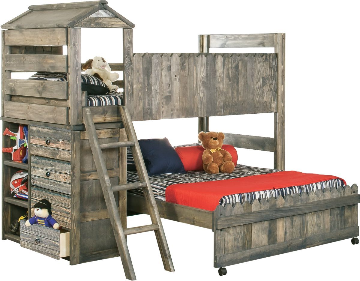 Fort Loft Bed with Ladder