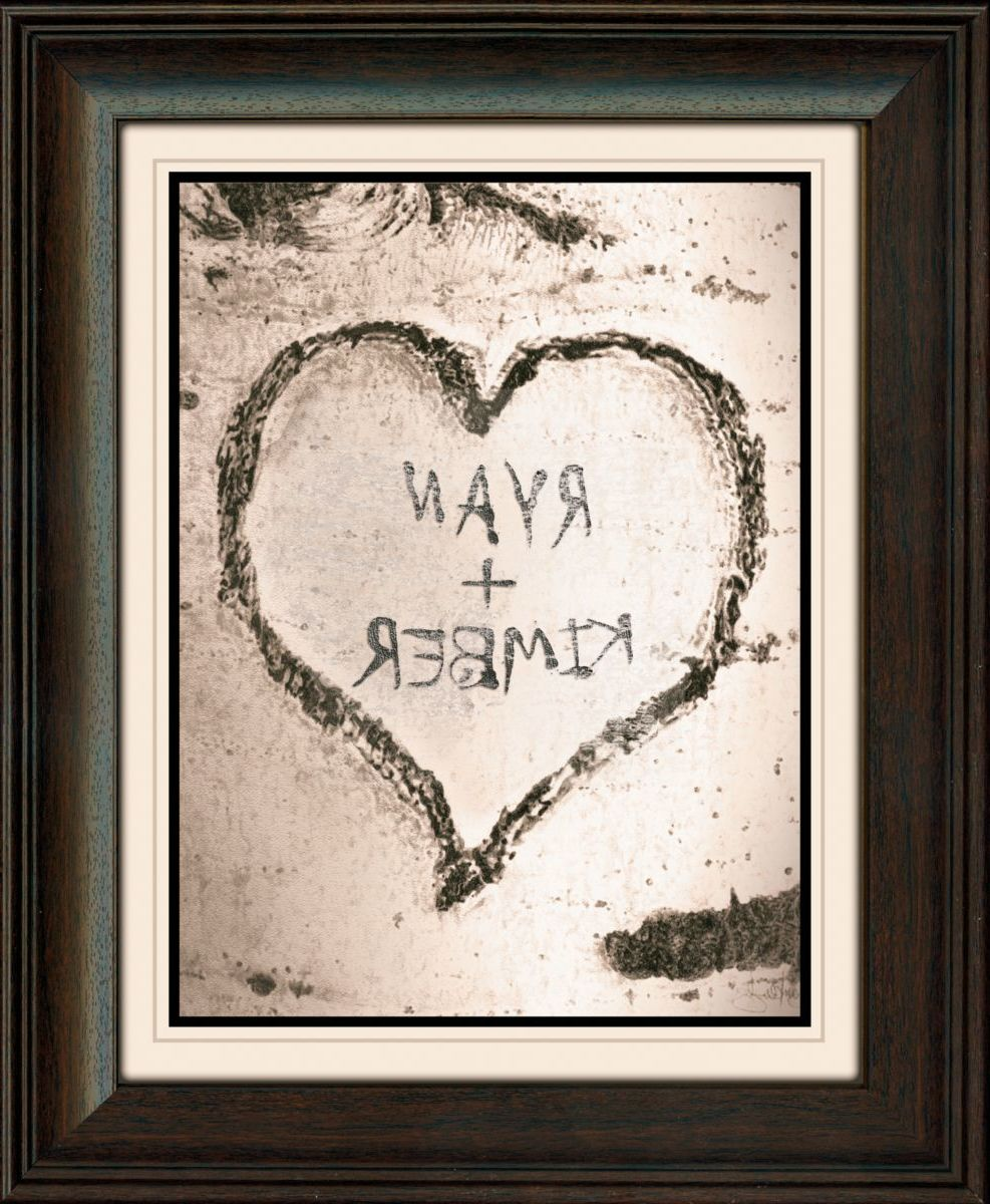Kennedys Personal Prints Personalized Aspen Heart Framed Print with Glass